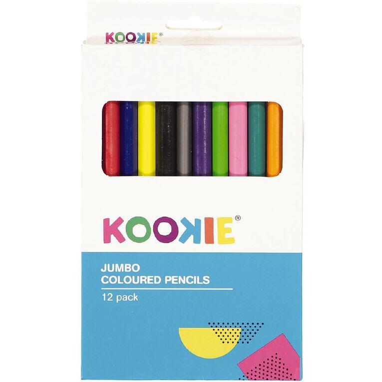 Kookie Jumbo Coloured Pencils 12 Pack, , hi-res