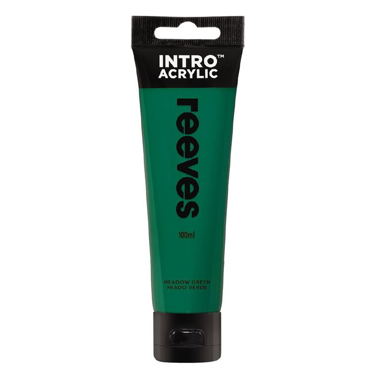 Reeves Intro Acrylic Paint Meadow Green 100ml, , hi-res