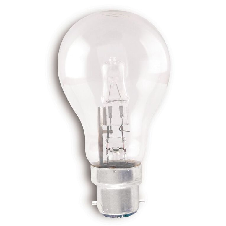 Edapt Halogen Classic Bulb B22 Clear 70w  Warm White 6 Pack, , hi-res