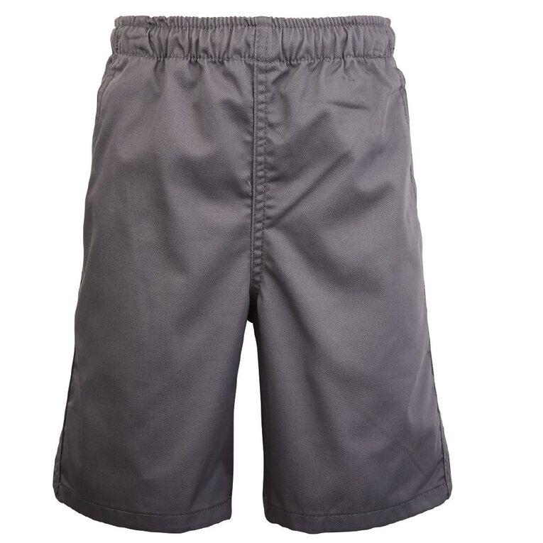 Schooltex Kids' Drill School Shorts, School Grey, hi-res