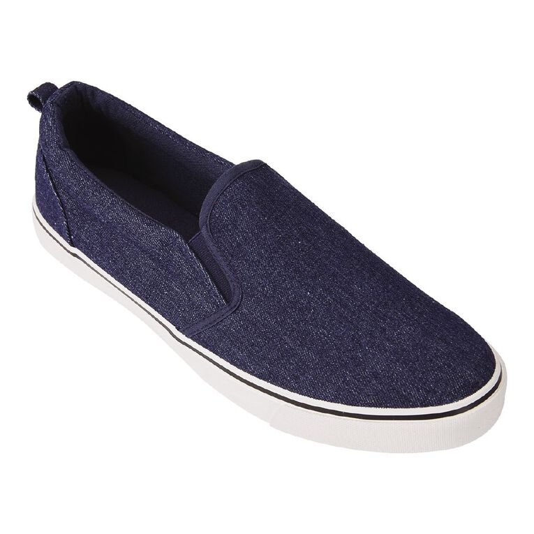 H&H Alex Slip On Shoes, Navy, hi-res