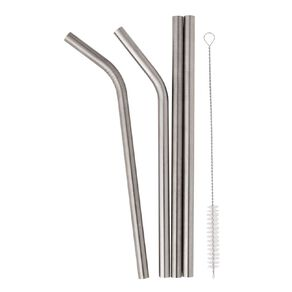 Living & Co Stainless Steel Straw Set - Smoothie