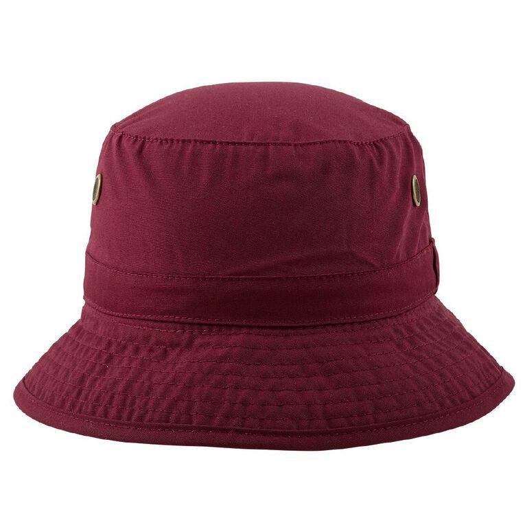 Schooltex Bucket Hat, Burgundy, hi-res