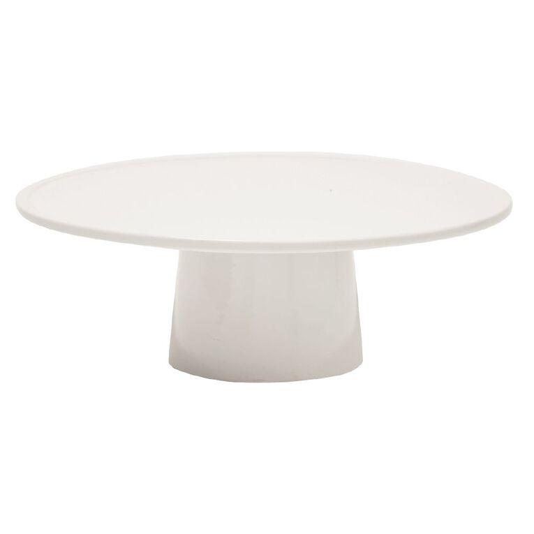 Living & Co Cake Stand White 30cm, , hi-res