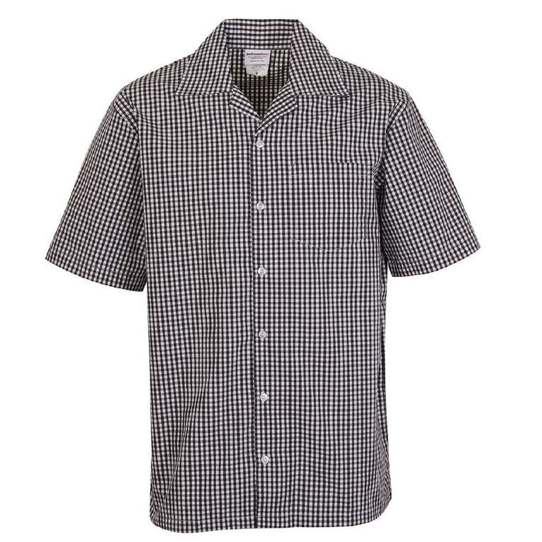 Schooltex Gingham Shirt, Black/White, hi-res