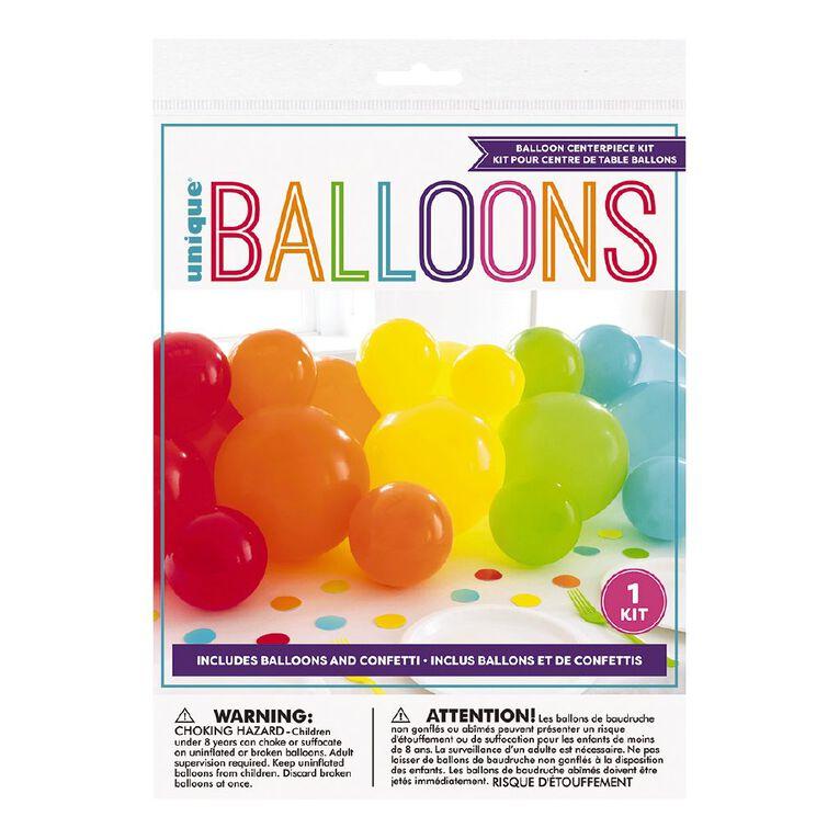 Unique Balloon Centrepiece Kit Brights, , hi-res