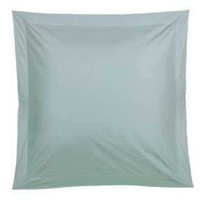 Living & Co Pillowcase Euro Cotton 400 Thread Count Blue 65cm x 65cm