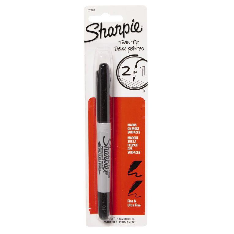 Sharpie Marker Twin Tip Black 1 Pack, , hi-res