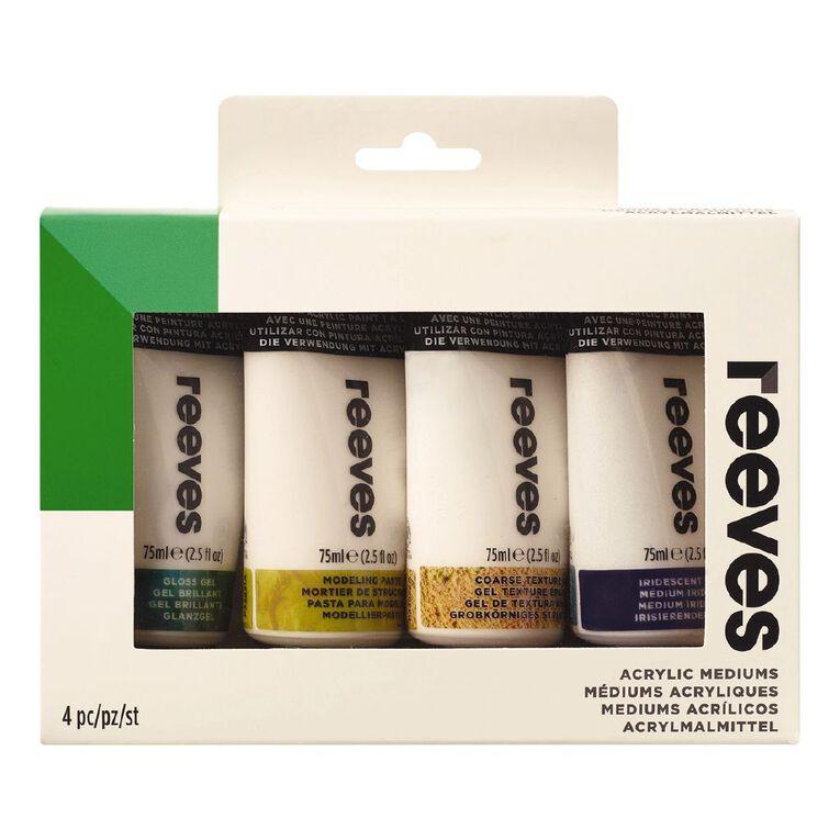 Reeves Acrylic Mediums Set 4 75ml, , hi-res