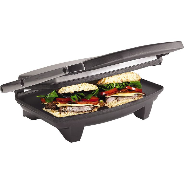 Living & Co Stainless Steel Sandwich Press 2 Slice, , hi-res
