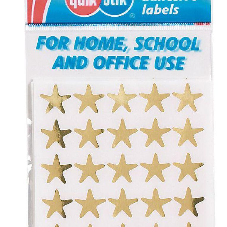 Quik Stik Labels Stars 150 Pack Gold, , hi-res