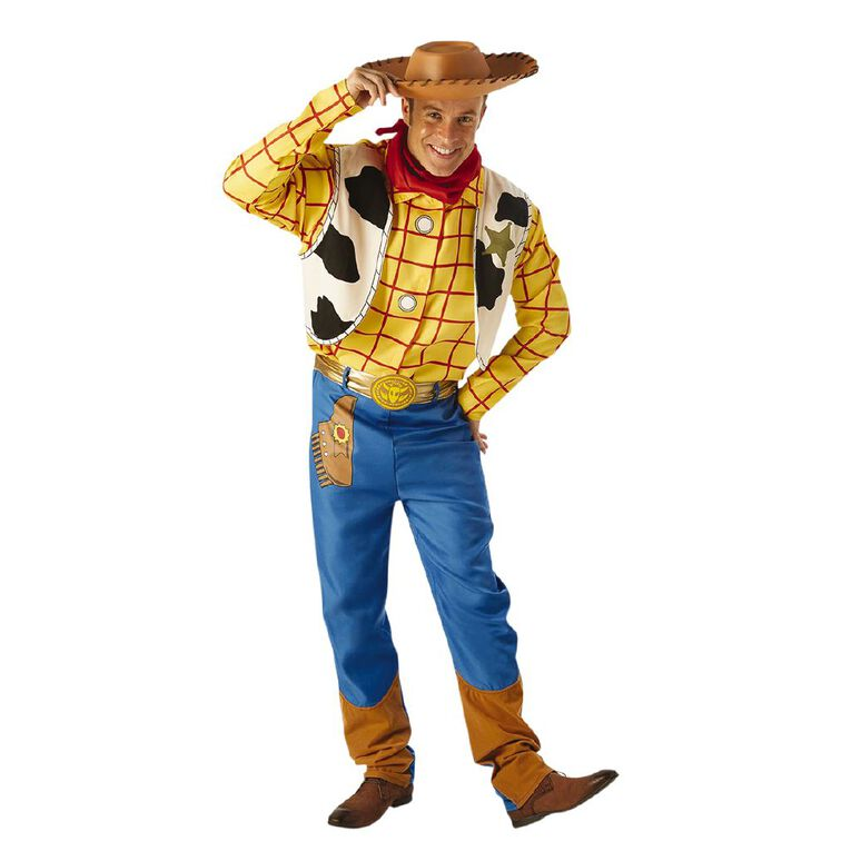 Toy Story Woody Deluxe Adult Costume - Size Standard, , hi-res