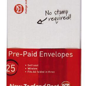 New Zealand Post DLE Envelope Prepaid Window 25 Pack