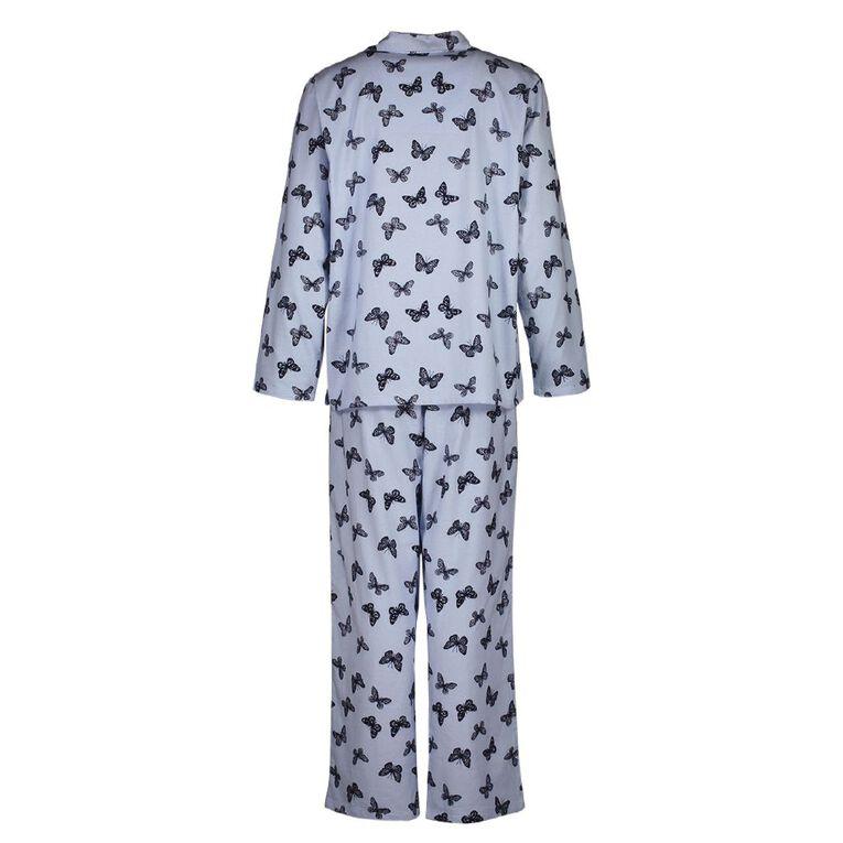 H&H Women's Flannelette Pyjamas Set, Blue Light, hi-res