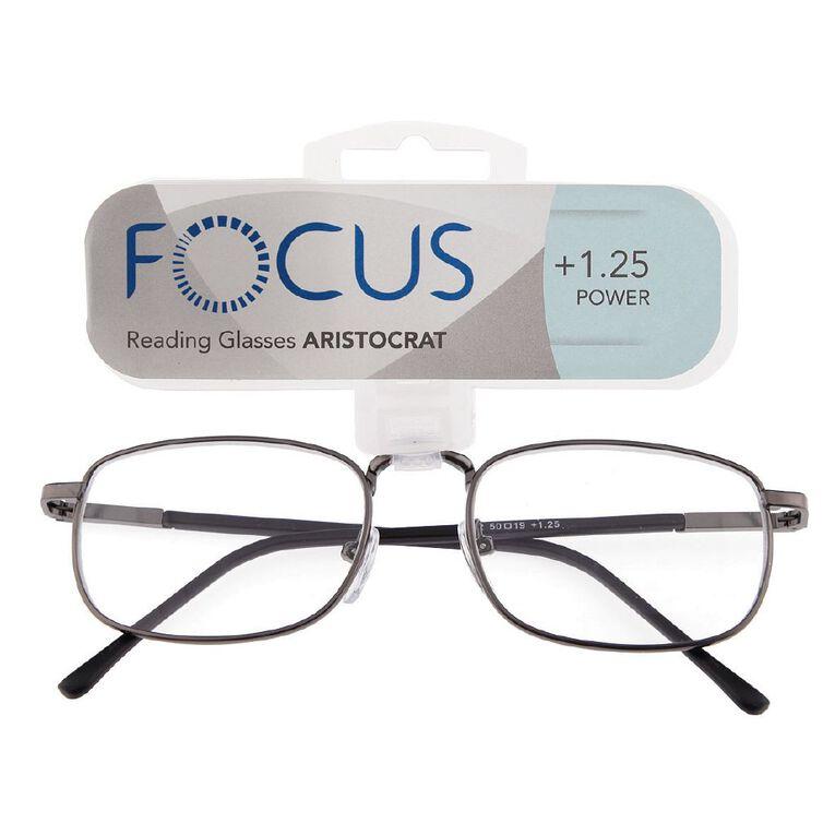 Focus Reading Glasses Aristocrat Power 1.25, , hi-res