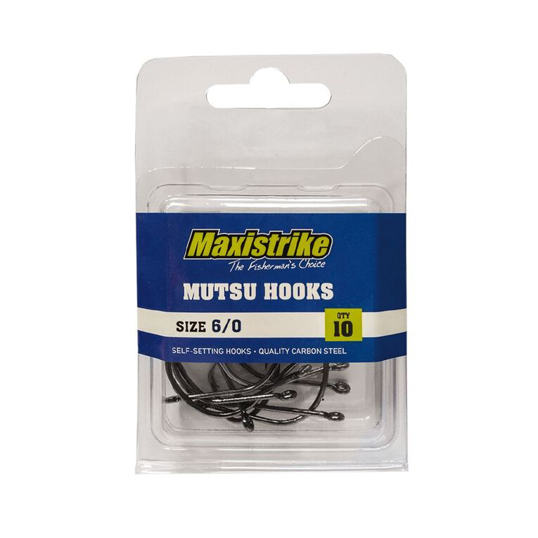 Maxistrike Mutsu Hooks 6/0 10 Pack, , hi-res