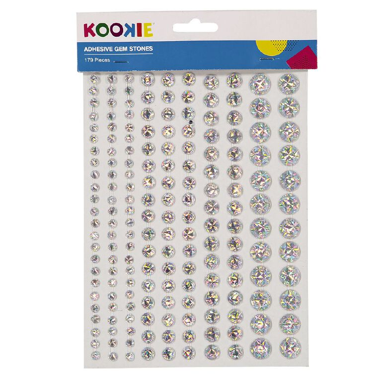 Kookie Gem Stickers 2 Sheets Silver, , hi-res