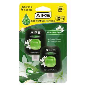 Aromate Air Eco Vent Mount Diffuser Car Air Freshener Floral 2 Pack