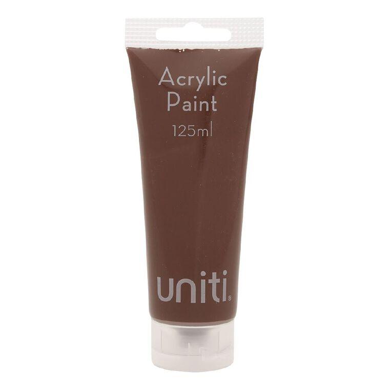 Uniti Acrylic Tube Brown 125ml, , hi-res