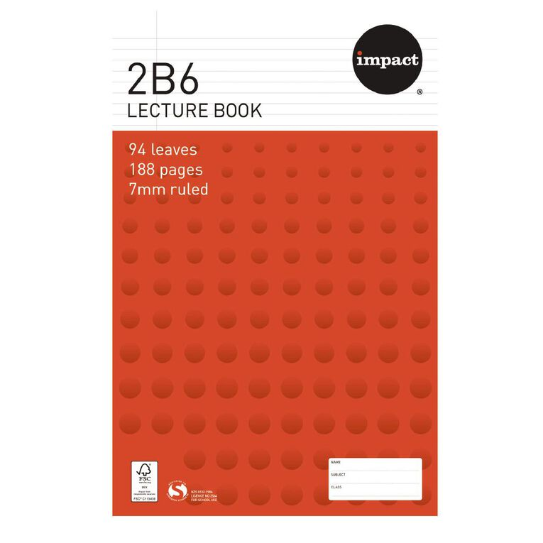 WS Exercise Book 2B6 7mm Ruled Hardcover 94 Leaf, , hi-res