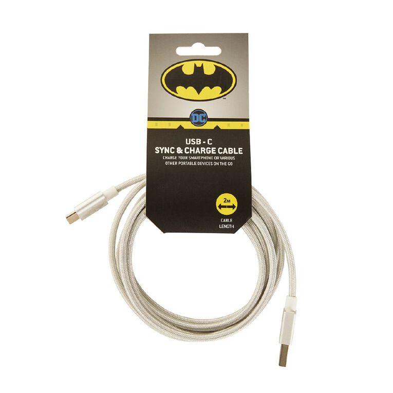 Batman Braided USB-C Cable Silver 2m, , hi-res