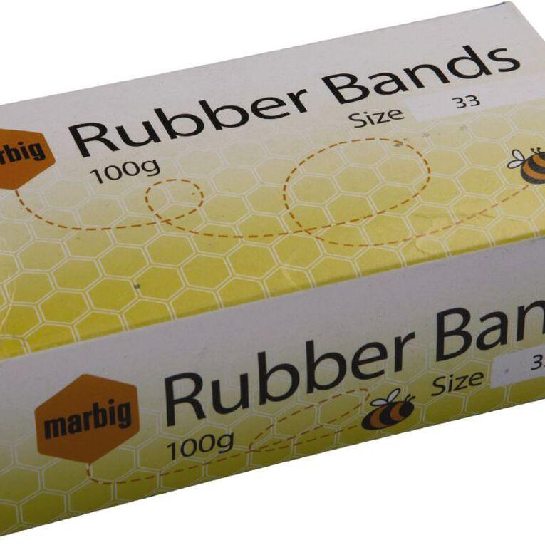 Marbig Rubber Bands 100g Packet #33 Brown, , hi-res