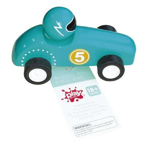 Play Studio Wooden Pull Back Car Assorted