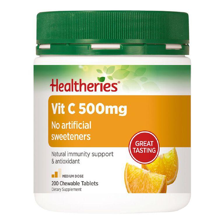 Healtheries Value Pack Vitamin C 500mg 200 Pack, , hi-res