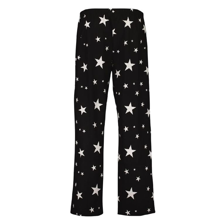 H&H Women's Flannelette Pyjama Pants, Black, hi-res image number null