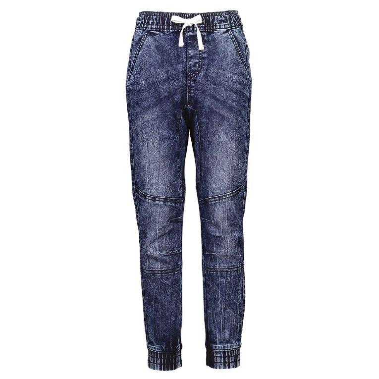 Young Original Knee Panel Jeans, Blue Mid, hi-res