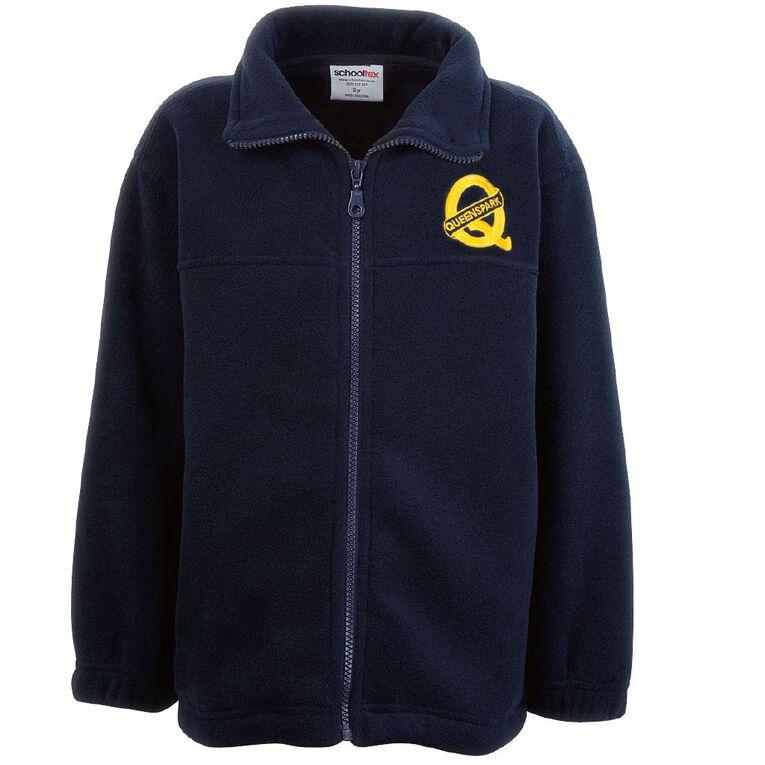 Schooltex Queenspark Polar Fleece Jacket with Embroidery, Navy, hi-res