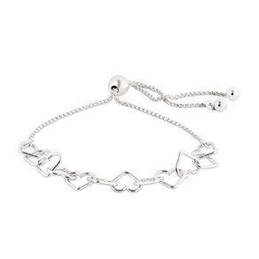 Sterling Silver Friendship Hearts Bracelet