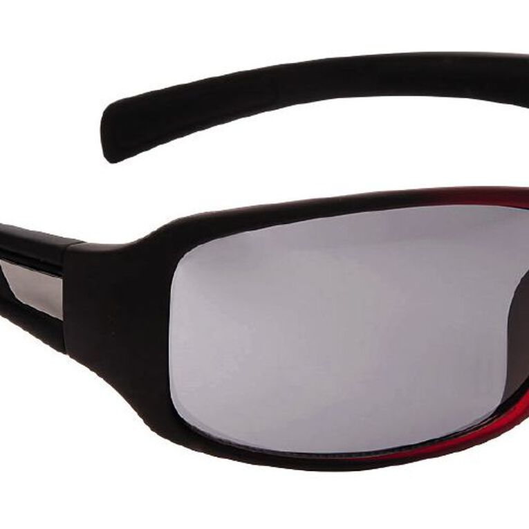 Beach Works Men's Wrap Sunglasses, Red, hi-res