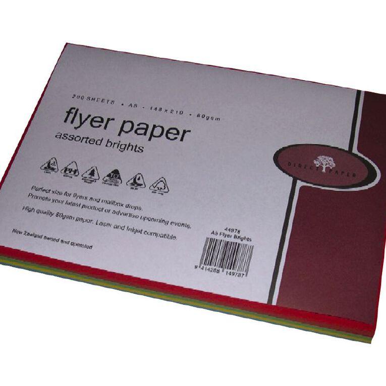Direct Paper Flyer Paper 80Gsm 200 Pack Brights, , hi-res