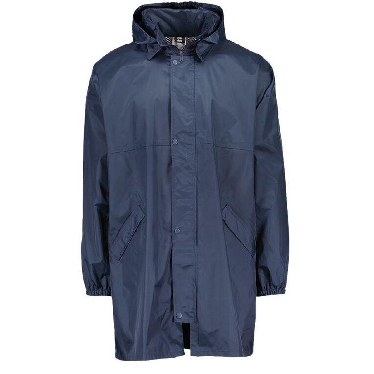 Schooltex Kids' Raincoat Hood within Collar, Navy, hi-res