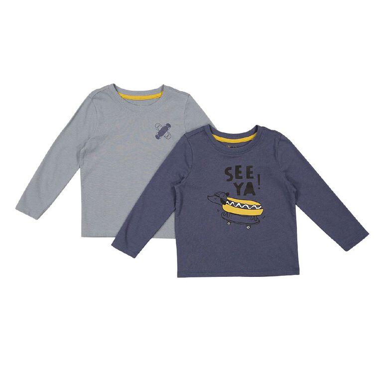 Young Original Toddler Long Sleeve 2 Pack Tees, Blue Light, hi-res