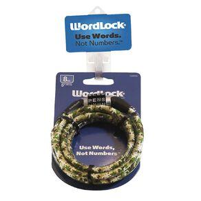 Wordlock Bike Lock 5 Foot/8mm/150cm Assorted