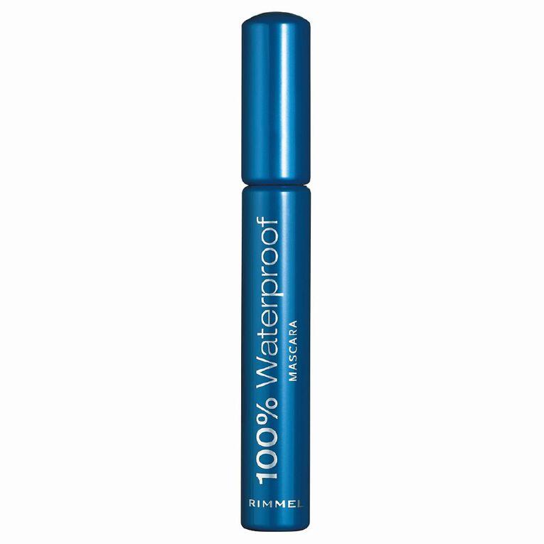 Rimmel 100% Waterproof Mascara Black, , hi-res