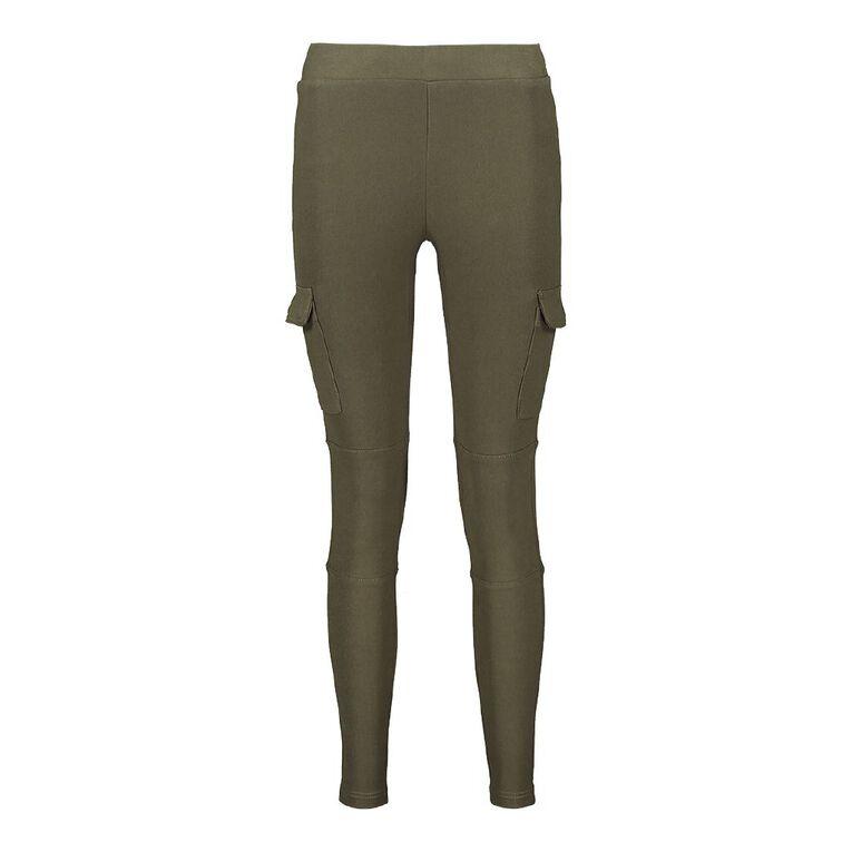 H&H Cargo Pocket Jeggings, Khaki, hi-res