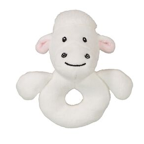 Babywise Lamb Ring Rattle Toy