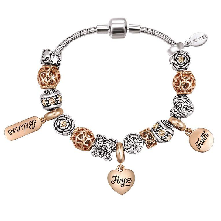 Mestige Plated Expression Bracelet with Swarovski Crystals, , hi-res