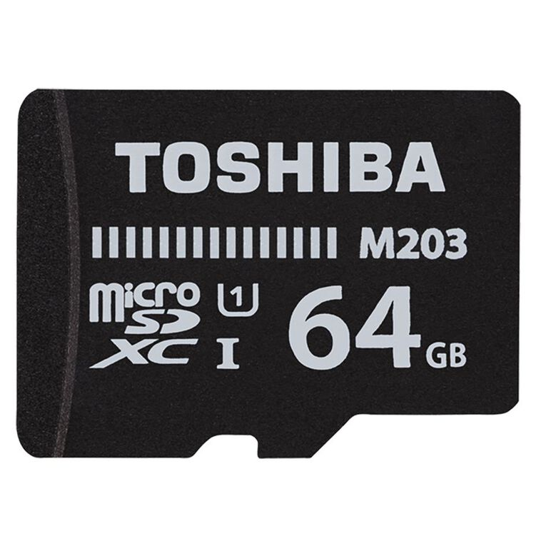 Toshiba 64GB Micro SD Card With Adapter, , hi-res