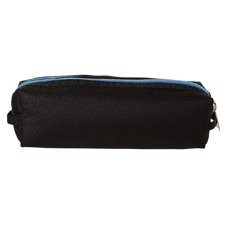 WS Double Zip Pencil Case Black, , hi-res