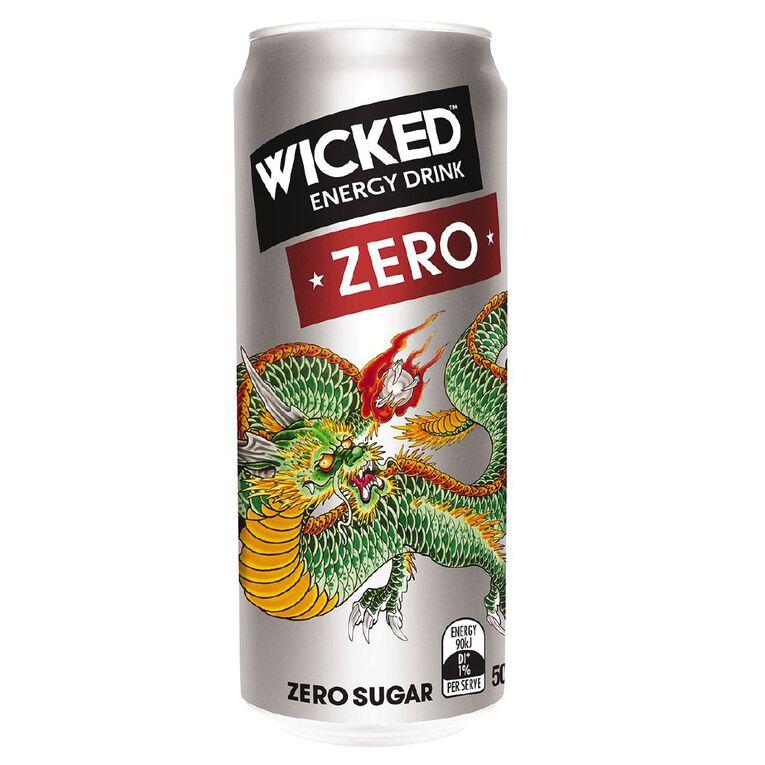 Wicked Energy Drink Zero 500ml, , hi-res