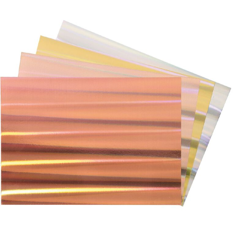 Uniti Value Cardstock Holographic 250gsm 12 Pack A4, , hi-res