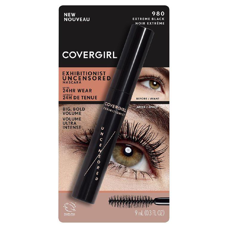 Covergirl Exhibitionist Uncensored Mascara Extra Black 980, , hi-res
