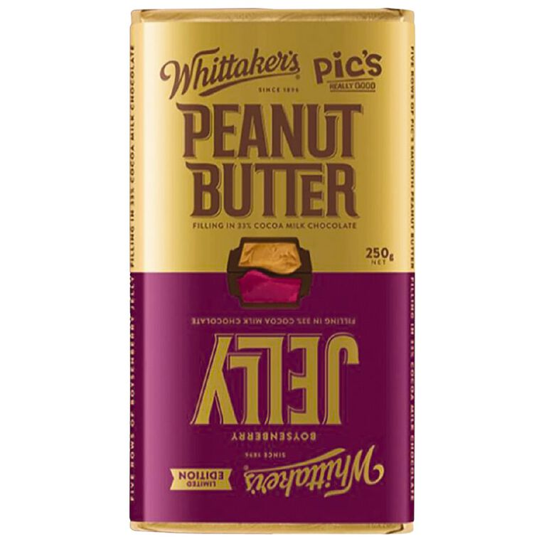 Whittaker's Peanut Butter & Jelly Block 250g, , hi-res