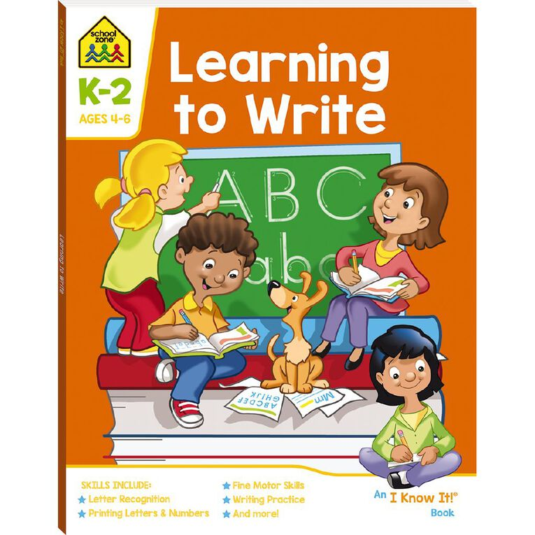 Learning to Write I Know It Book (4-6yrs) by School Zone, , hi-res