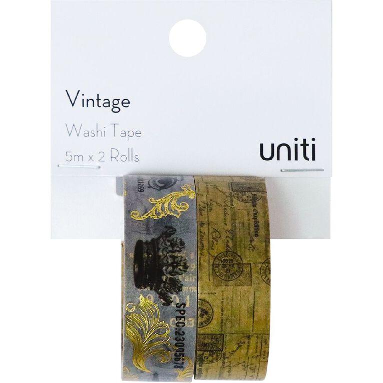 Uniti Washi Tape 2 Pack Vintage Crown, , hi-res