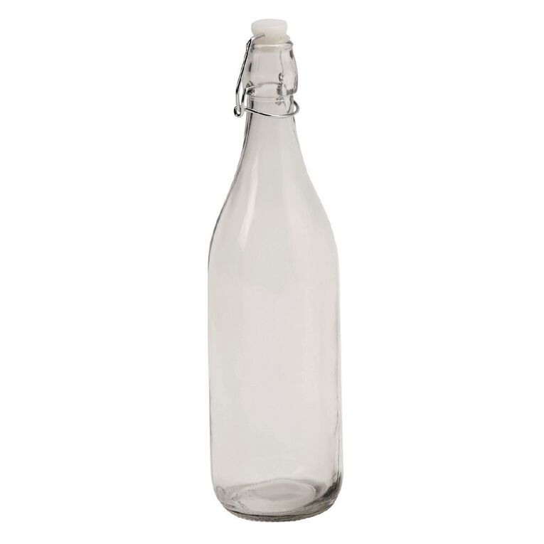 Living & Co Bistro Glass Bottle 1L, , hi-res